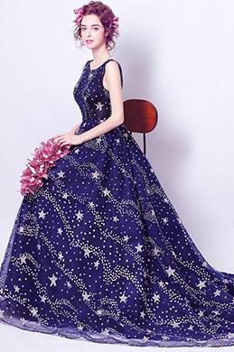 eDressit Robe de Soirée Longue Formelle Bleu Brilante (36191605)