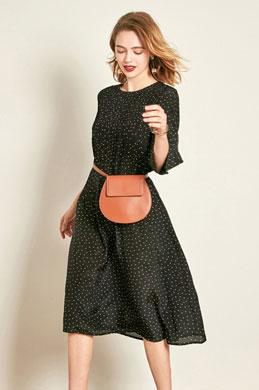 eDressit Black Wave Point Printed Dress Day Wear (30192100)