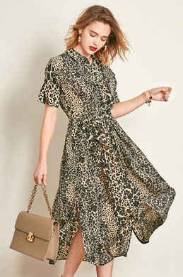 eDressit Chic Leopard Shirt Dress Day Dress (30192668)