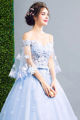 eDressit Blue OFF Shoulder Embroidery Prom Evening Dress (36197732)