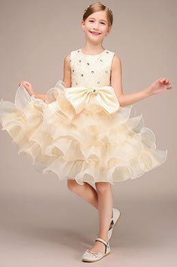 eDressit Handmade Beadings Rose Skirt Flower Girl Midi Dress(27193814)