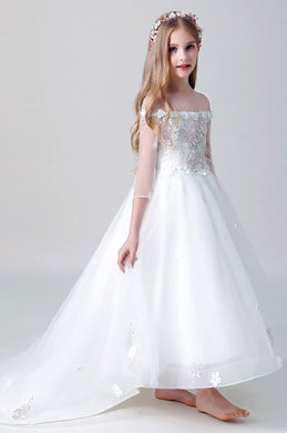 eDressit Off Shoulder Long Flower Girl Dress (27204807)