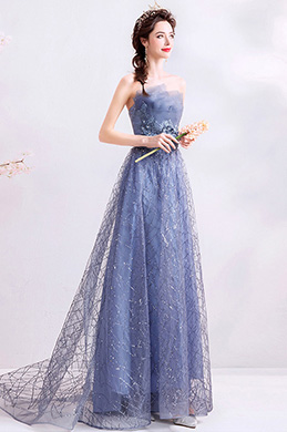 eDressit Shiny Grey-Blue Strapless Formal Party Prom Dress (36200705)