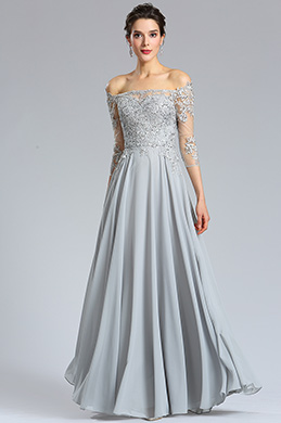 eDressit Long Sleeves Grey lace Formal Evening Dress (36181908)