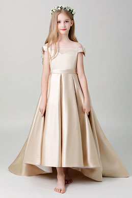 eDressit Off Shoulder Champagne Flower Girl Dress (27204314)