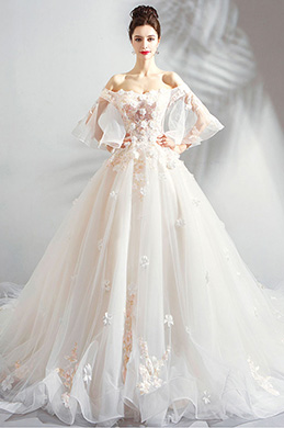 eDressit Sexy Off-Shoulder Fairy Long Train Wedding Dress (36194814)