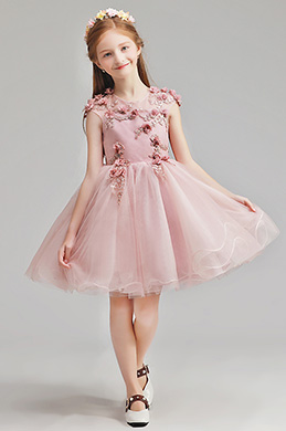 eDressit Flora Short Blush Wedding Flower Girl Dress (28195646)