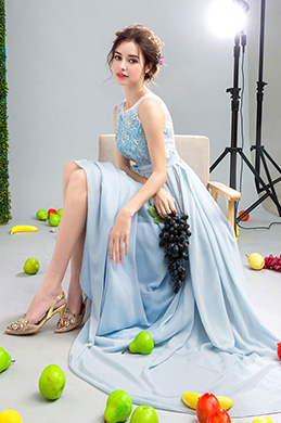 eDressit Blue Illusion Neckline Sleeveless Chiffon Prom Dress (36212705)
