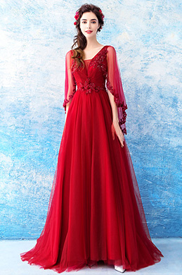 eDressit Sexy V-Cut Sleeves Long Formal Party Prom Dress (36210902)