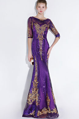 eDressit Sexy Gorgeous Purple Fully Beaded Mermaid Prom Party Gown (36217306)
