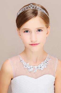 eDressit Silver Beads Girl Headwear Hair Hoop 13191126)