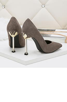 Women's Suede Sexy Kitten High Heel Pumps Shoes (0919016)