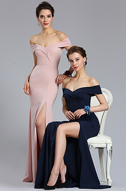 eDressit New Rose Pink Off Shoulder Slit Prom Evening Dress (02182846)