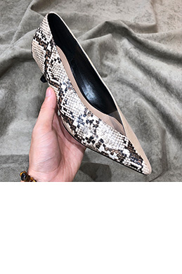 eDressit Women Leopard&Black Toe Closed High Heels Shoes (0919055)