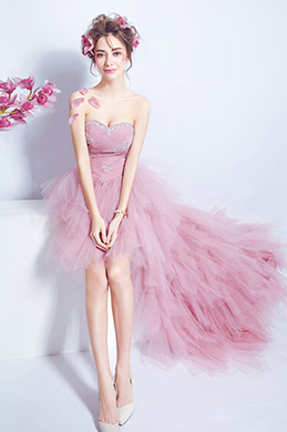 eDressit Robe de Bal Rose Busiter Avec Des Perles (36199601)
