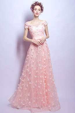 eDressit Sexy Pink Cap Sleeves Unique Lace Party Ball Gown (36199401)