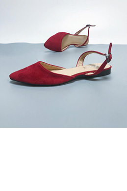 eDressit Suede Open Heel Pointed Flat Shoes (0919060)