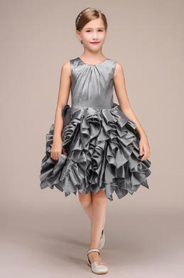 eDressit Lovely Grey Rose Flower Girl Mini Dress (28192708)