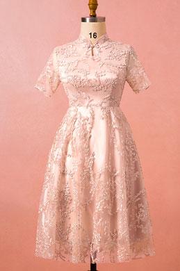 eDressit Pink Plus Size Short Sleeves Cocktail Dress Women Dress (31191246)