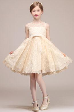 eDressit Bowknot Short Wedding Flower Girl Mini Dress (28193714)