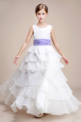 eDressit White Multi-layer Wedding Flower Girl Party Dress (27193807)