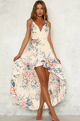 eDressit Spaghetti Straps Printed Day Dress (35195068)