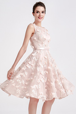 eDressit Belle Robe de Cocktail Courte Rose (04190701)