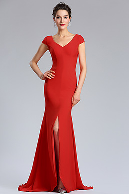 eDressit New Cap Sleeve Red Women Evening Party Dress (02181902)