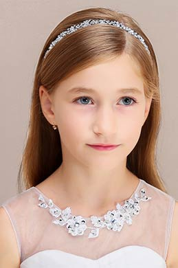 eDressit Shiny Beads Girl Headwear Hair Hoop  (13191626)