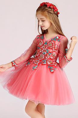 eDressit Jolie Robe de Demoiselle d'Honneur Rose Pour Fille (28194857)