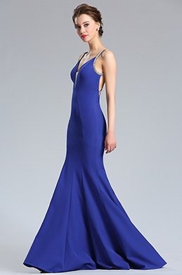 eDressit Persian Blue Sleeveless Long Mermaid Prom Dress (36182605)