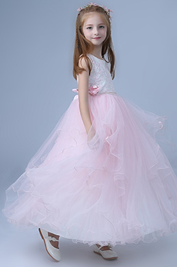 eDressit Pink Sleeveless Children Wedding Flower Girl Dress (27202501)