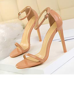 Women's Open Toe Buckle High Heel Sandals Shoes (0919019)