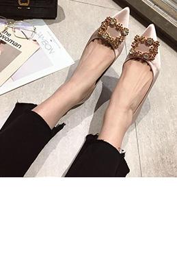 Shiny Beadings Toe Closed Rhinestone Shoes (0919072)