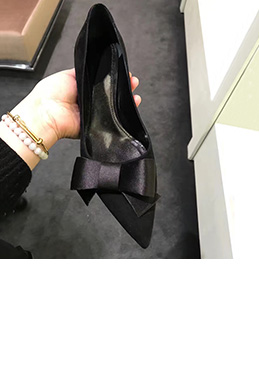 Women Fashion Kitten Heels Closed Toe Shoes (0919109)