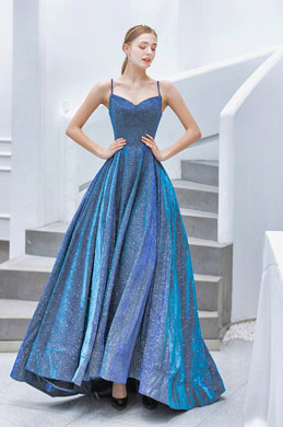 eDressit Blue Spaghetti Sparkle Elegant Sleeves Party Prom Dress (36213405)