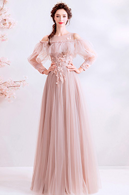 eDressit OFF Shoulder Unique Sleeves Ruflle Long Women Dress (36197146)