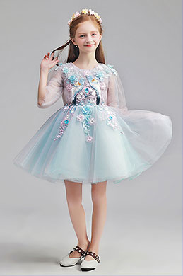 eDressit Lovely Blue Short Girl Wedding flower Girl Dress (28190305)
