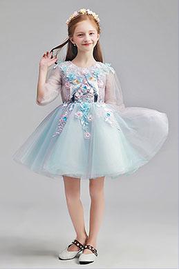 eDressit Lovely Blue Short Girl Wedding flower Girl Dress (28190305)