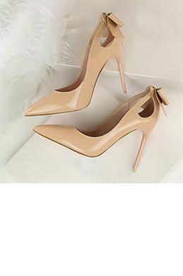 Women's Elegant Patent Leather Closed Toe High Heel Pumps Shoes (0919024)