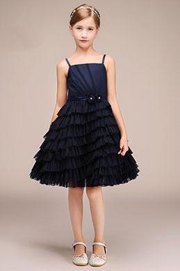 eDressit Robe de Demoiselle d'Honneur Bleu Pour Enfants  (28193305)