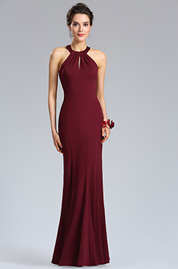 eDressit Sexy Halter Burgundy  Mermaid Evening Party Dress (36184317)