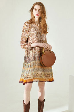 eDressit Silk Printed Summer Dress Holiday Dress Day Wear (30194668)
