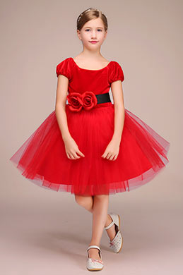 eDressit Red Handmade Tulle Flower Girl Dress (28192302)