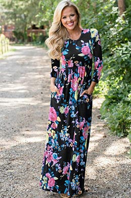 eDressit Long Printed Holiday Dress Summer Dress (36191568)