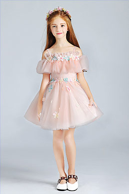 eDressit Pink Lovely  Princess Wedding Flower Girl Dress (28190401)
