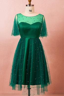 eDressit Green Plus Size Short Sleeves Beadings Cocktail Dress (31191304)