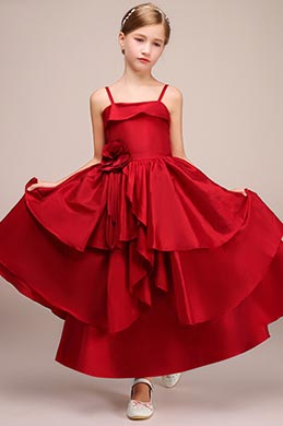 eDressit Red Spaghetti Wedding Flower Girl Dress (27194602)