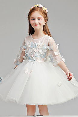 eDressit Cute Round Neck Wedding Flower Girl Party Dress (28194007)
