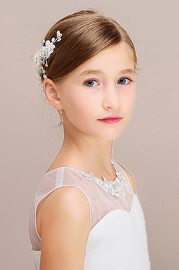 eDressit Floral Beads Girl Headwear Hair Accessories(13191326)